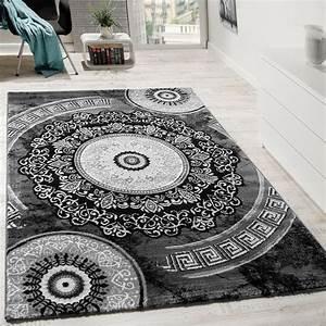 designer teppich mit glitzergarn klassisch ornamente With balkon teppich mit tapete grau ornament