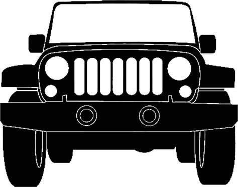 jeep front drawing jeep silhouette illustration jeep pinterest jeeps