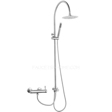 shower heads and faucets modern stainless steel bathroom shower heads and faucets