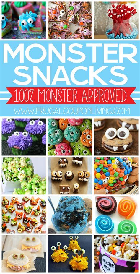 monster snacks  kids  monster party ideas