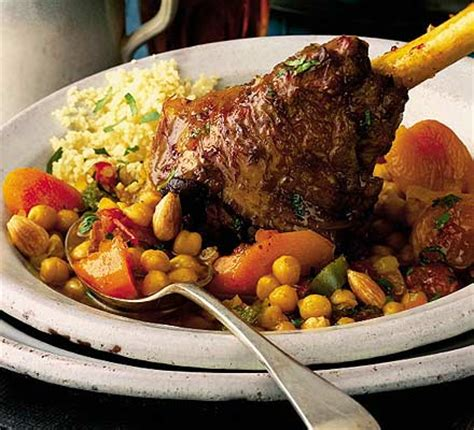 lamb shanks  chickpeas moroccan spices bbc good food