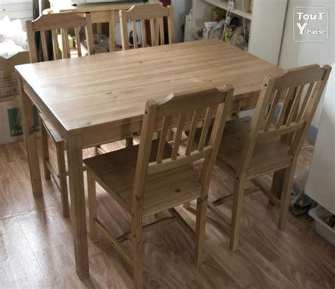 chaise en bois ikea table et 4 chaises en bois ikea brunoy 91800