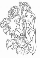 Pocahontas Coloring Pages Clips sketch template