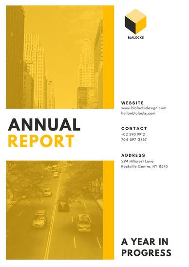 customize  annual report templates  canva