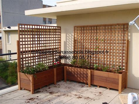 Brise vue bois balcon coupe vue pour terrasse | Idmaison