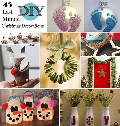 super easy  minute christmas decorations