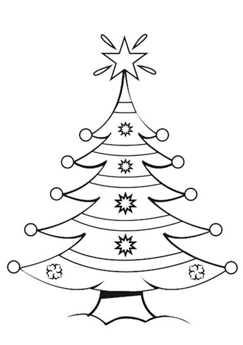 dibujos de arboles de navidad  colorear  imprimir