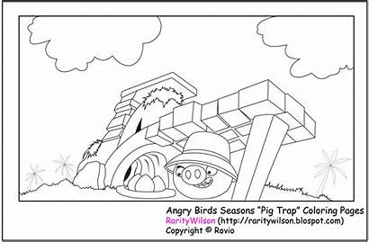 Angry Birds Coloring Pages Printable Seasons Season