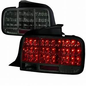 05-09 Ford Mustang LED Sequential Turn Signal LED Tail Lights - Smoked
