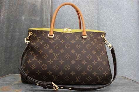 louis vuitton monogram canvas pallas bag pistache