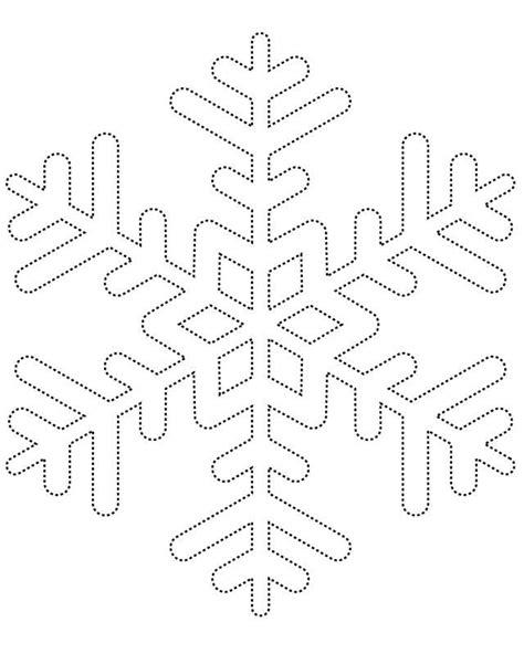 Snowflake Template Coloring Page Snowflakes Printable Mcosmanlipvp