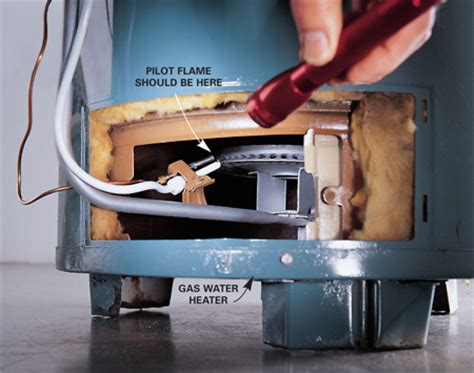 water gas light lighting water heater pilot light homes decoration tips