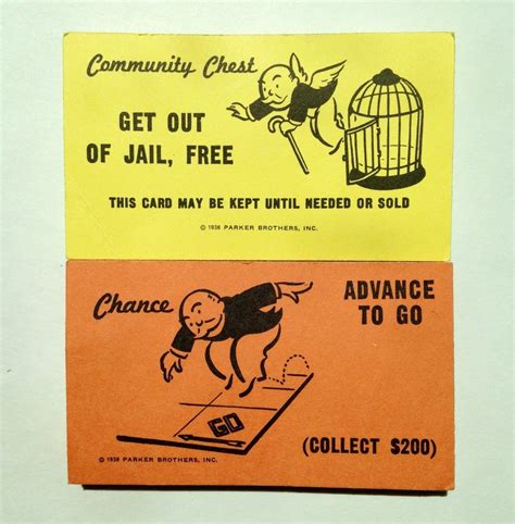 Chance And Community Chest Cards Template by Monopoly Replacement Chance Community Chest Cards Full
