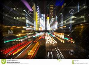 Abstract tokyo city lights stock image. Image of ...