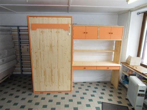 bureau relevable lit relevable en 90x190 avec bureau sur mesure vercors