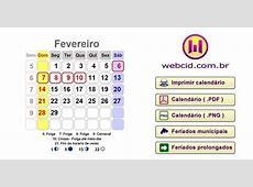 Calendário 2016 com todos feriados prolongados nacionais