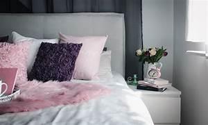 Schlafzimmer Rosa Grau : schlafzimmer interior einrichtung grau rosa lila boxspringbett otto 1 lavie deboite ~ Frokenaadalensverden.com Haus und Dekorationen