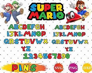 super mario print etsy With super mario letters