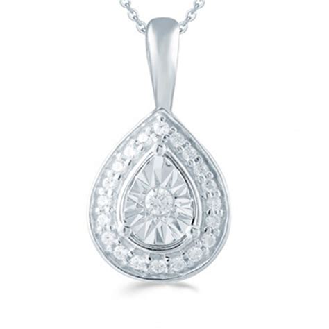 Adara Set adara silver 0 10ct illusion set pendant 18
