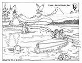 Coloring Sheets Sheet Park National Glacier Bay Service Kayakers Nps Learn Seals August sketch template
