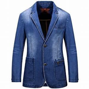 Men Denim Blazer 2016 New Arrival Menu0026#39;s Casual Suit Slim ...