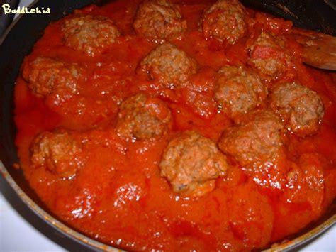 boulettes de viande sauce tomate cuisine italienne recettes viande de boeuf en sauce