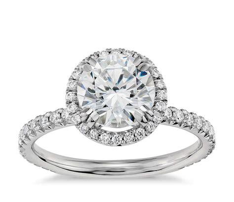 blue nile studio heiress halo diamond engagement ring in platinum 3 8 ct tw blue nile