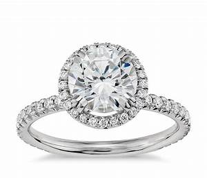 blue nile studio heiress halo diamond engagement ring in With wedding ring halo settings