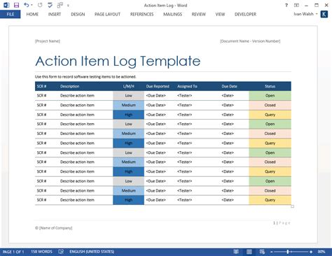 Item Tracker Template by Software Testing Templates 50 Word 27 Excel