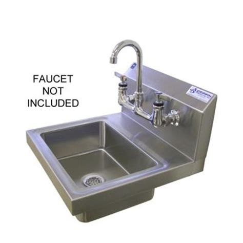 wall mount stainless steel sink at the home depot