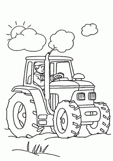 printable tractor coloring pages  kids