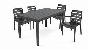 Table De Jardin Plastique : salon de jardin 4 places en plastique ~ Dailycaller-alerts.com Idées de Décoration