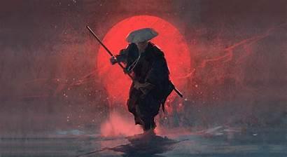 Samurai Warrior Moon Wallpapers Background 1920
