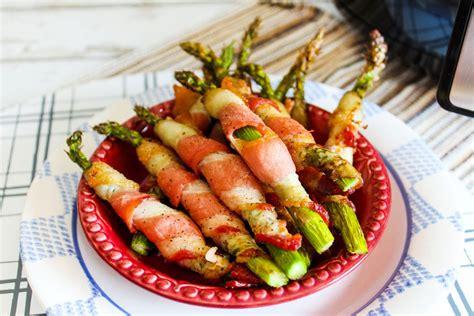 air fryer bacon asparagus wrapped crispy recipe ingredient wrap