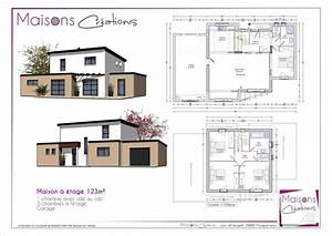 afficher l39image d39origine maison plans pinterest With ordinary plan maison etage 100m2 7 plan de maison 100m2 avec sous sol