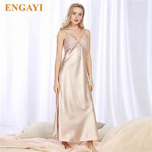 engayi brand long women summer night dress plus size sexy With robe de nuit longue
