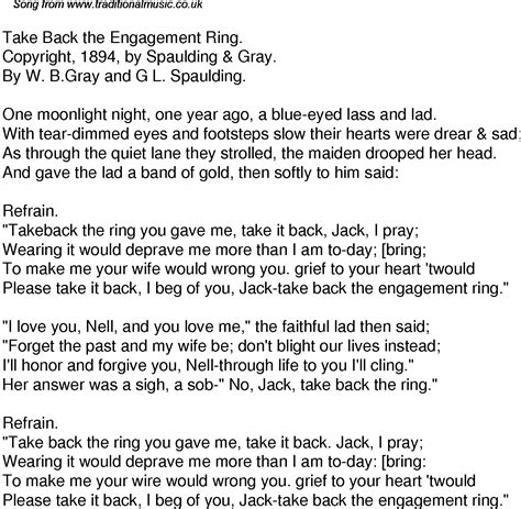 time song lyrics for 59 take back the engagement ring