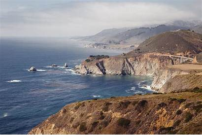 Coast California Cliffs Pacific Highway Precipice Roads