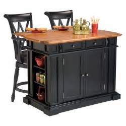 Bar Stools For Kitchen Island Home Styles Kitchen Island 3 Set Black Distressed Oak With 2 Deluxe Bar Stools In