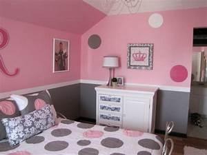 1001 conseils et idees pour une chambre en rose et gris With couleur mur chambre fille