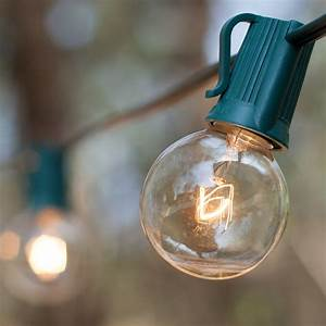 Solar Christmas String Lights Patio Lights Commercial Clear Globe String Lights 33