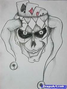 How to Draw a Joker Skull, Step by Step, Skulls, Pop ...