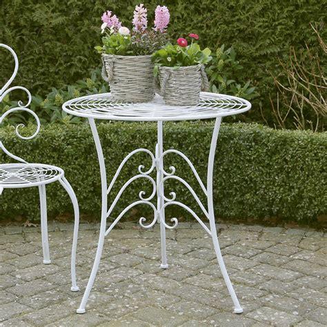 Gartentisch Metall Weiß by Gartentisch Nostalgie Wei 223 Aus Metall Romantisch Verziert