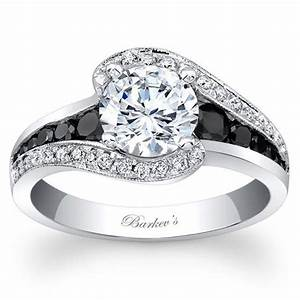 barkev39s 14k white gold and black diamond quothalo swirl With white gold wedding rings with black diamonds
