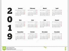 Calendar Inspiring Yearly Calendar 2019 Yearly Calendar 2019