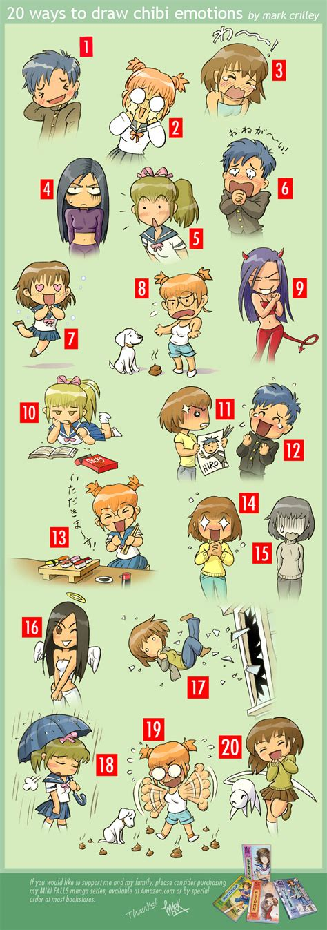 20 Ways To Draw Chibi Emotions By Markcrilley On Deviantart