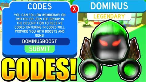dominus pet codes  slaying simulator update roblox