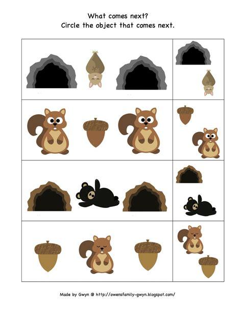 hibernation amp migration printable preschool printables 413   HIB What Comes Next (2)