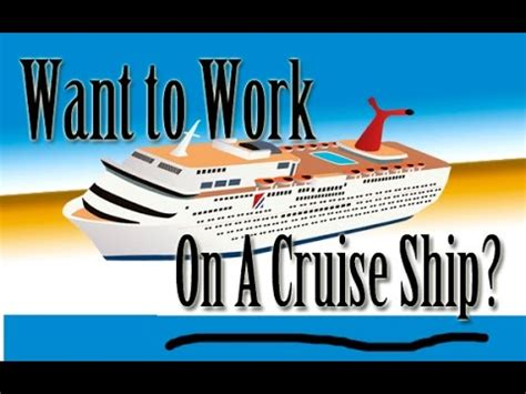 Want To Work On A Cruise Ship? Ep.2  The Application Process - YouTube