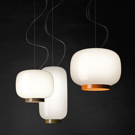 foscarini pendant light chouchin reverse glass shade utility design uk
